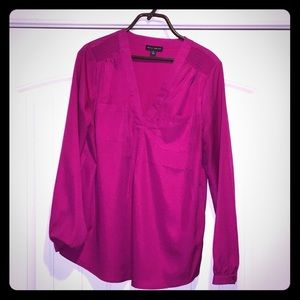 Hot Pink Willi Smith Blouse